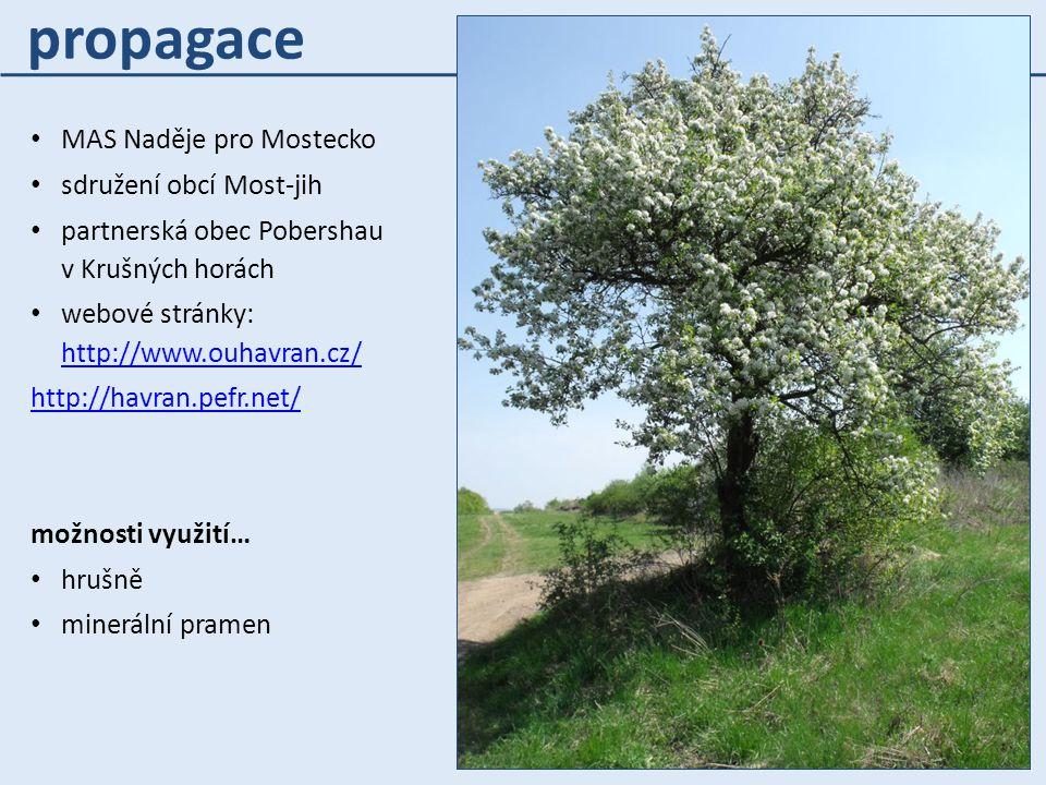 propagace MAS Naděje pro Mostecko sdružení obcí Most-jih