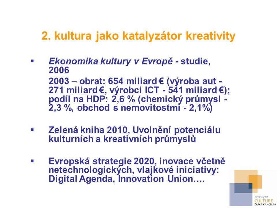 2. kultura jako katalyzátor kreativity