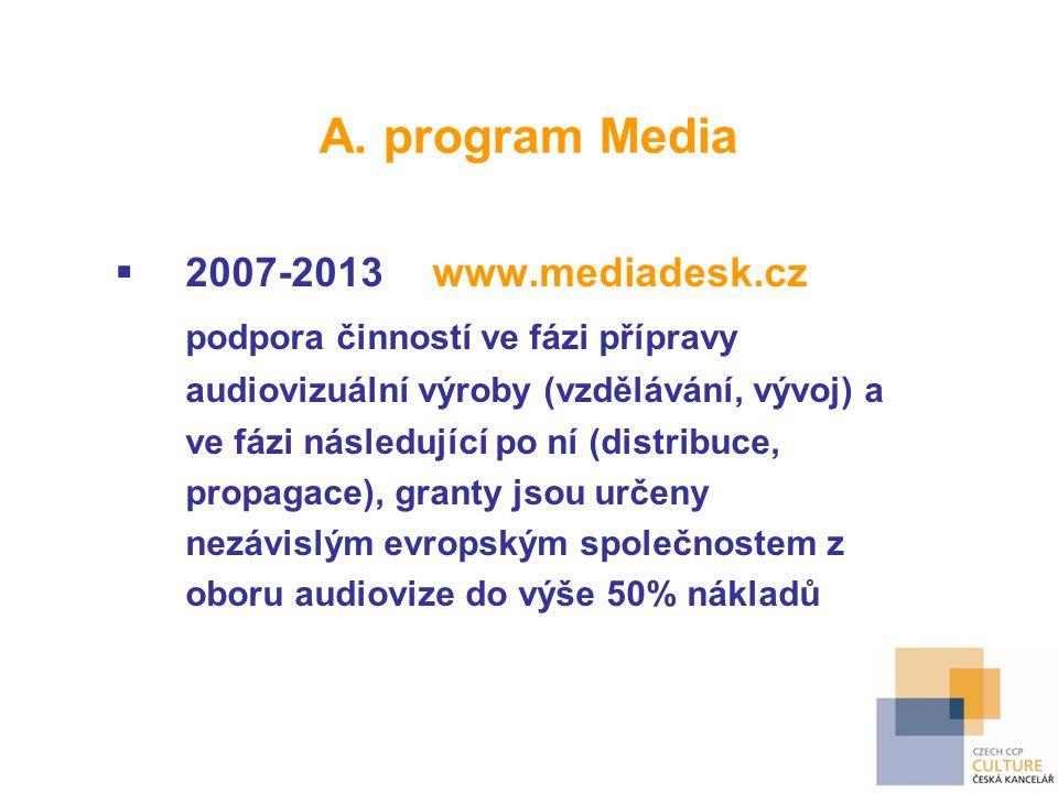 A. program Media 2007-2013 www.mediadesk.cz