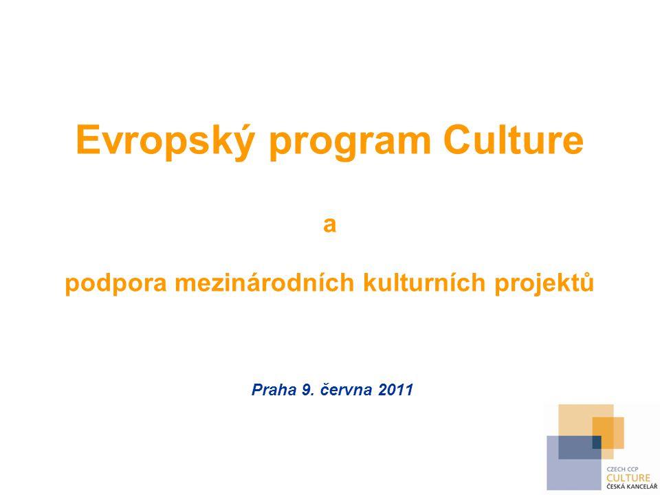 Evropský program Culture a podpora mezinárodních kulturních projektů