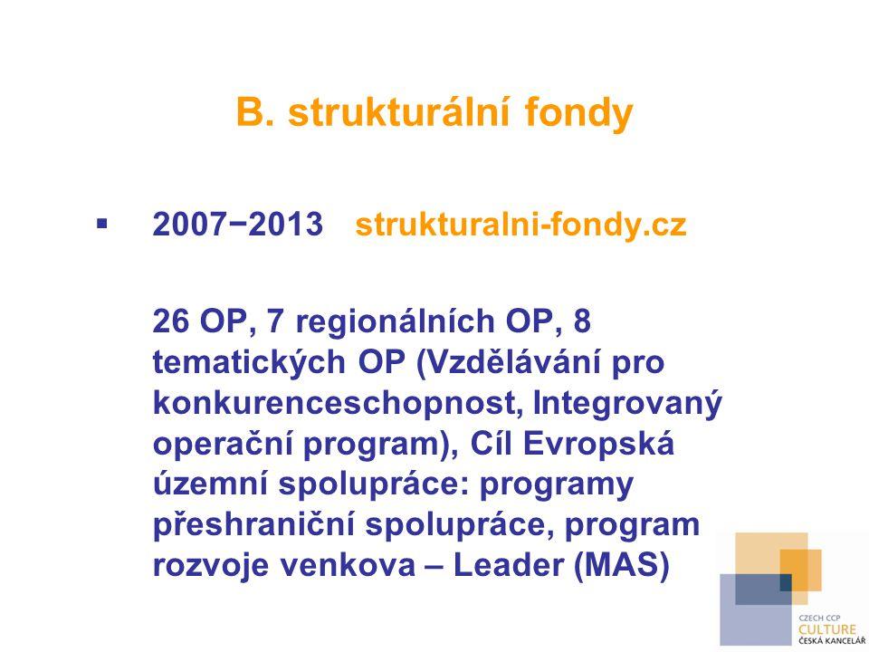 B. strukturální fondy 2007−2013 strukturalni-fondy.cz