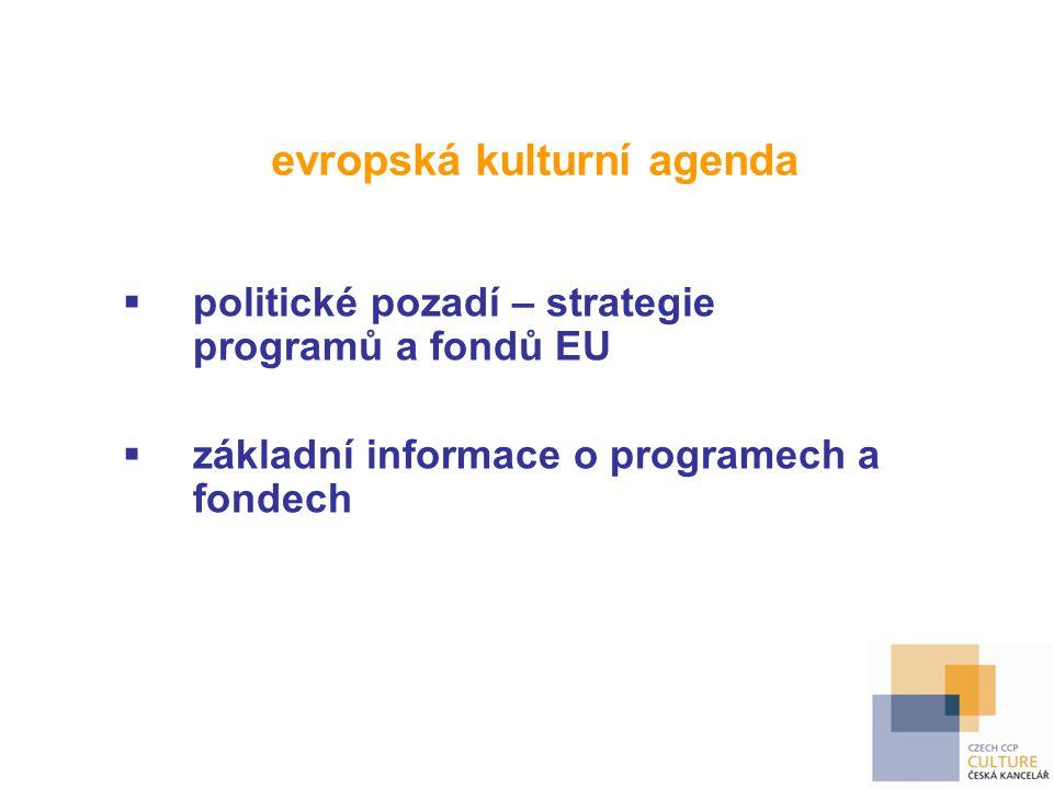 evropská kulturní agenda