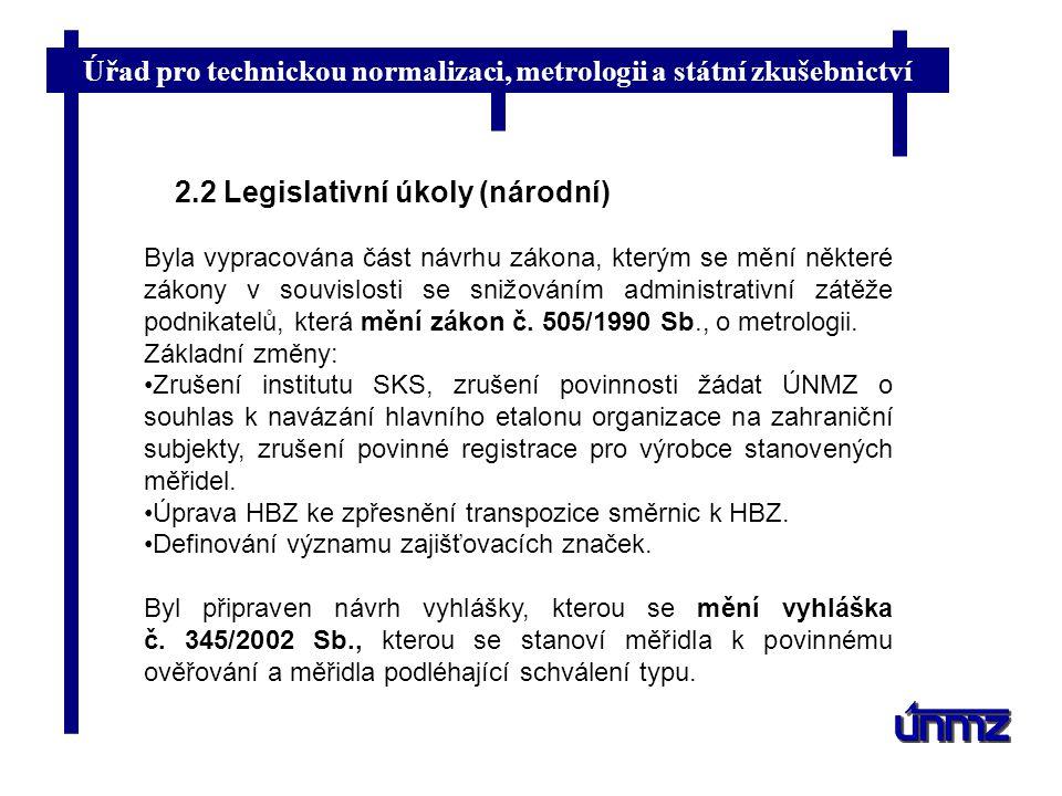 2.2 Legislativní úkoly (národní)