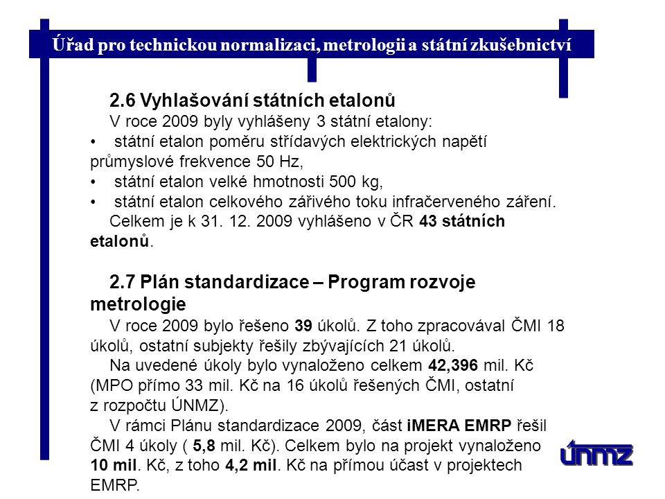 2.6 Vyhlašování státních etalonů