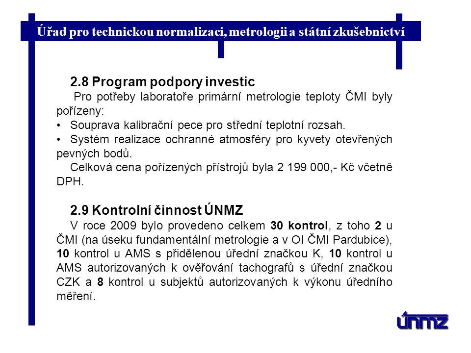 2.8 Program podpory investic