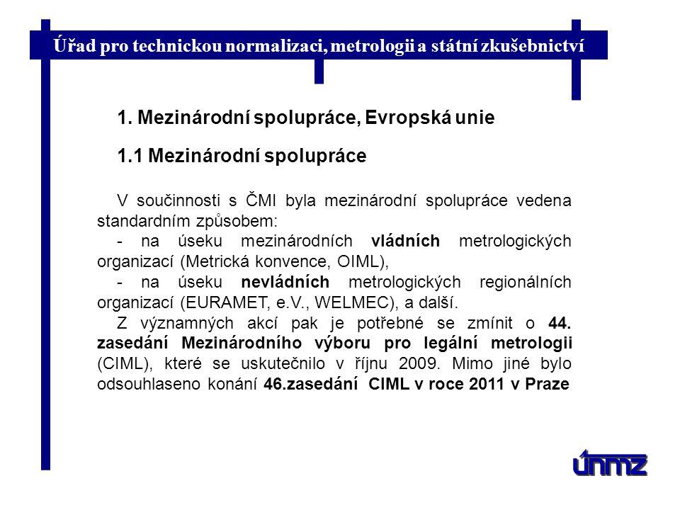 1. Mezinárodní spolupráce, Evropská unie 1.1 Mezinárodní spolupráce