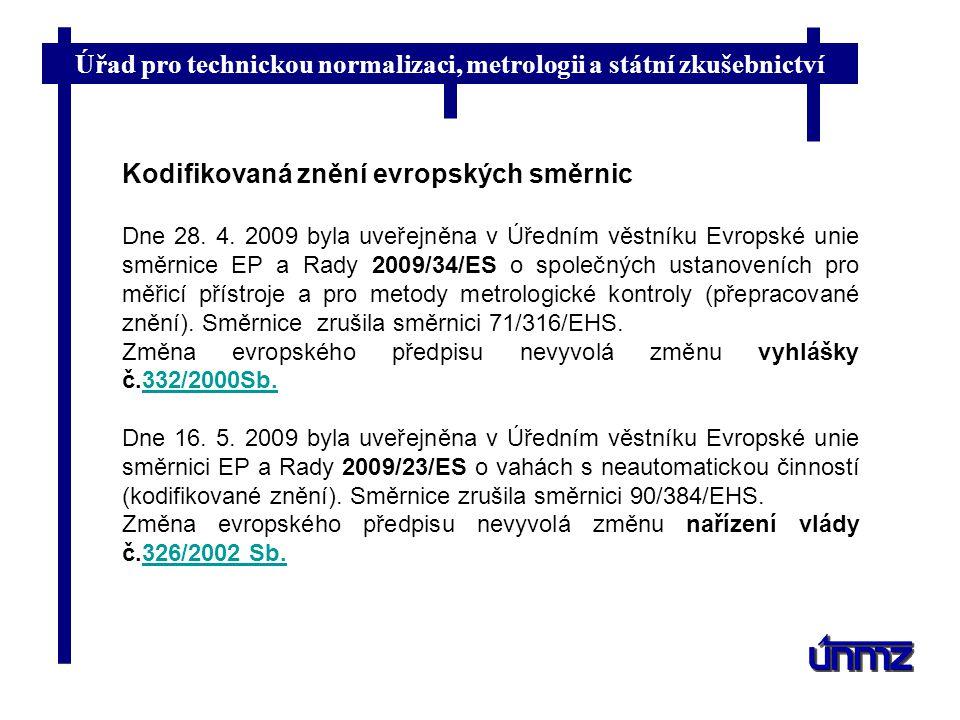 Kodifikovaná znění evropských směrnic
