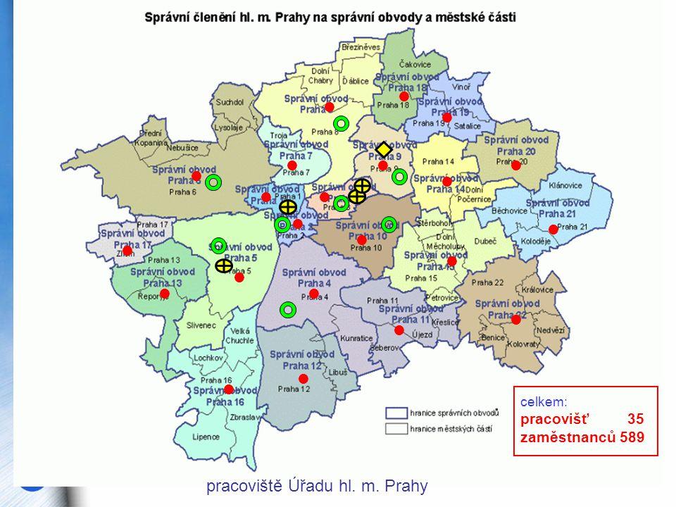 pracoviště Úřadu hl. m. Prahy