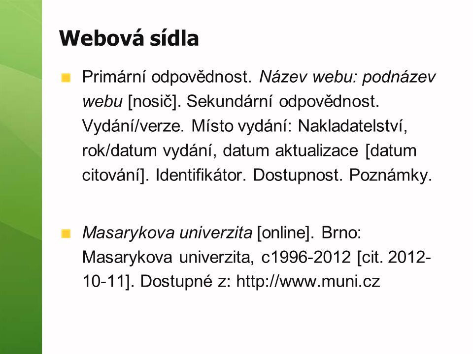 Webová sídla