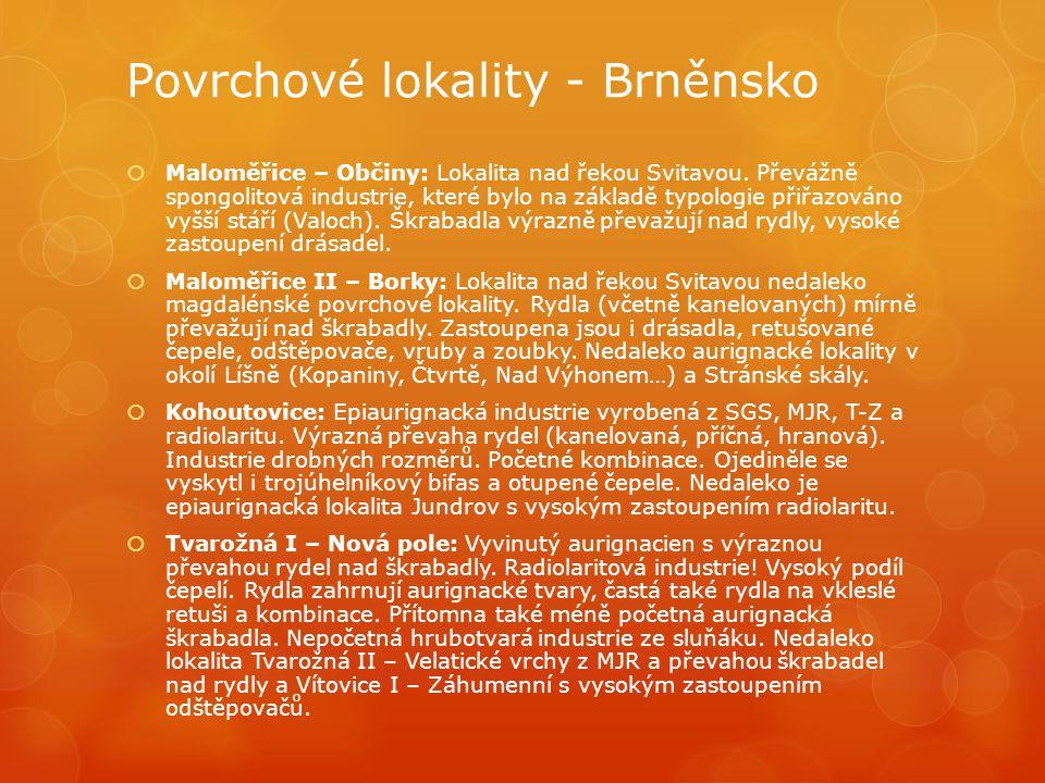 Povrchové lokality - Brněnsko