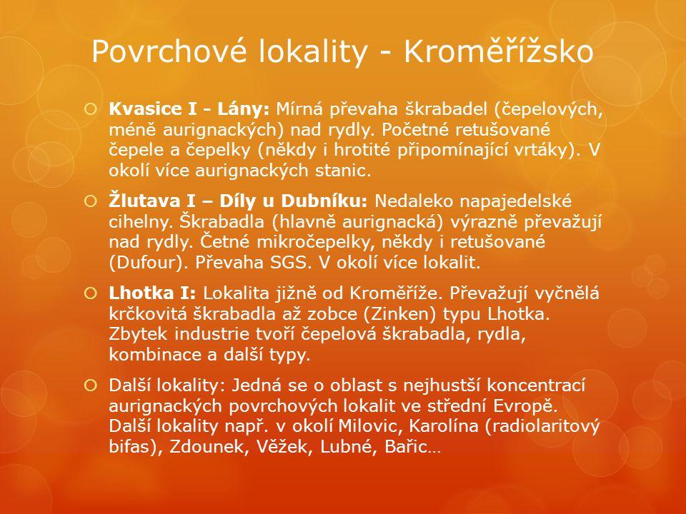 Povrchové lokality - Kroměřížsko