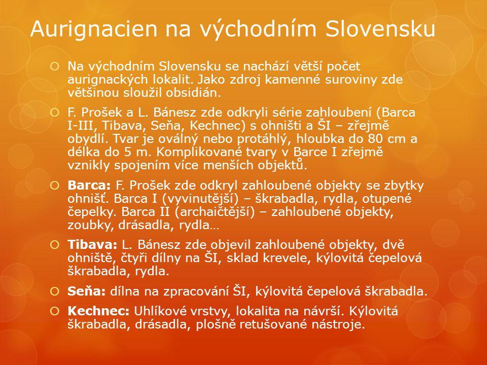 Aurignacien na východním Slovensku