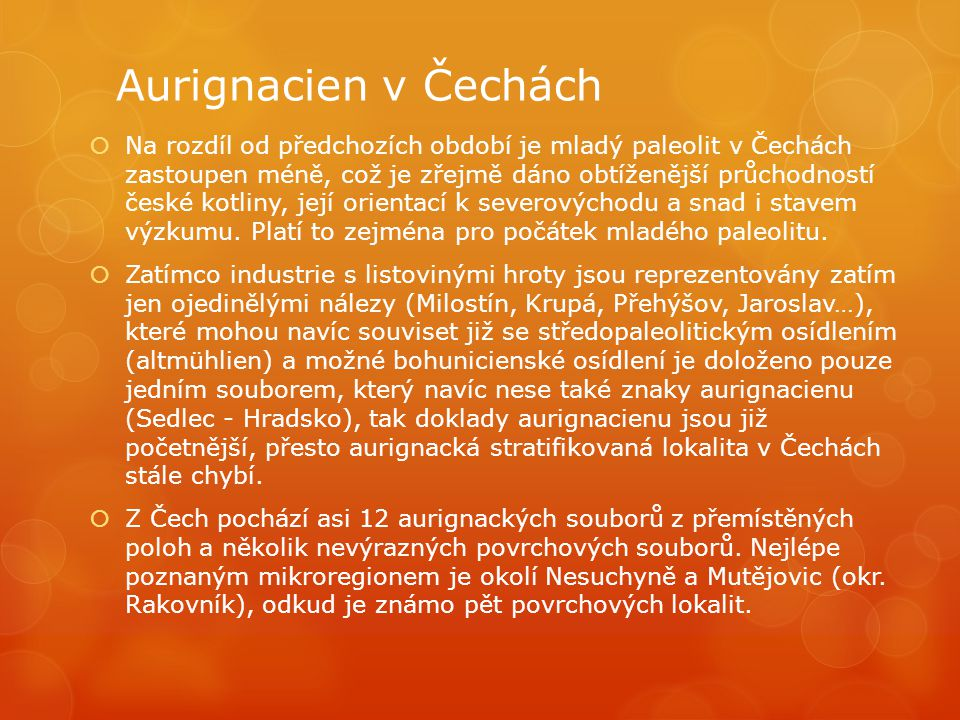 Aurignacien v Čechách