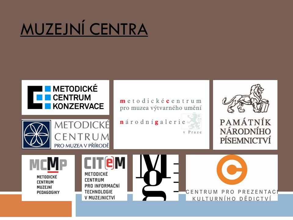 - specializovaná muzeologicko-metodická pracoviště při PO MK