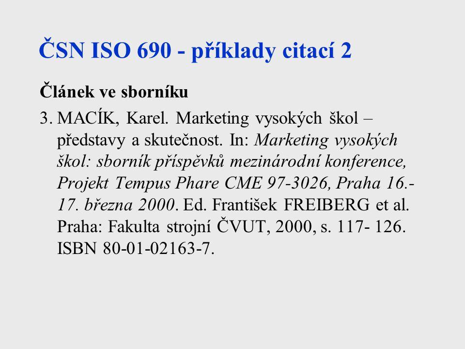 ČSN ISO 690 - příklady citací 2