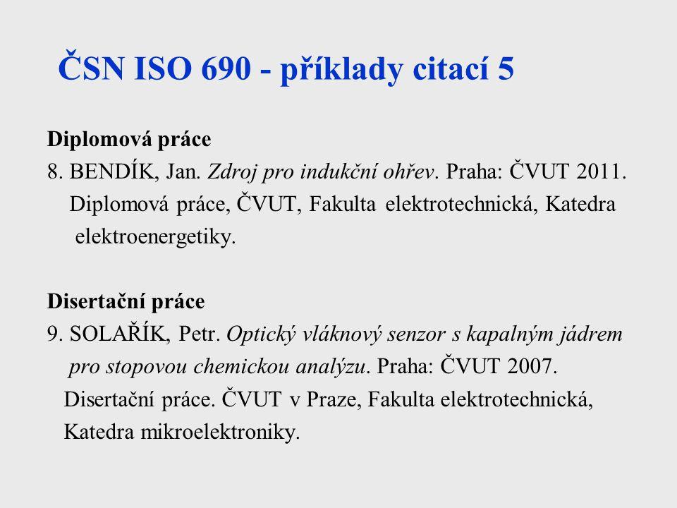 ČSN ISO 690 - příklady citací 5