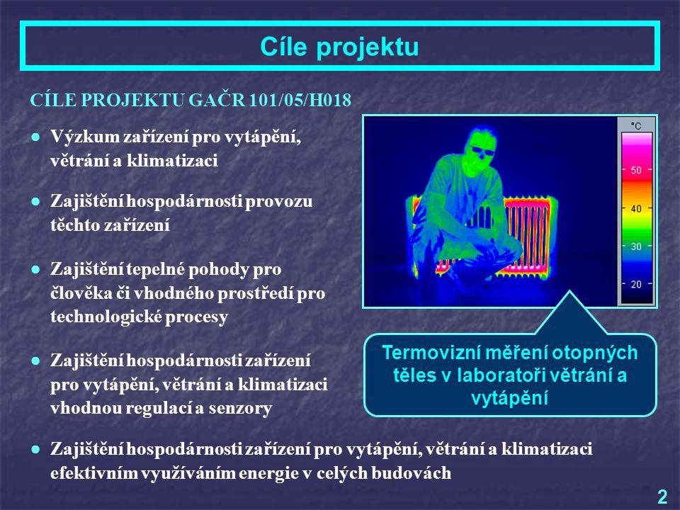 Termovizní měření otopných těles v laboratoři větrání a vytápění