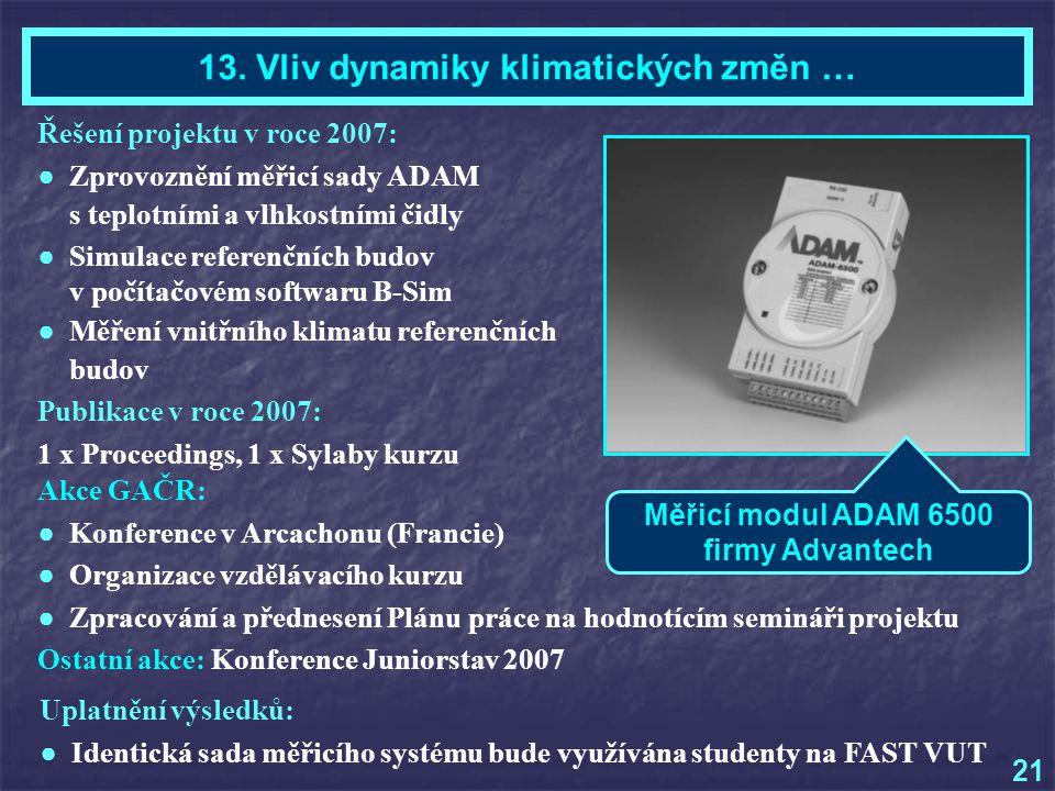 Ing. Tomáš Hlavačka - Téma 13, Kontrol. etapa