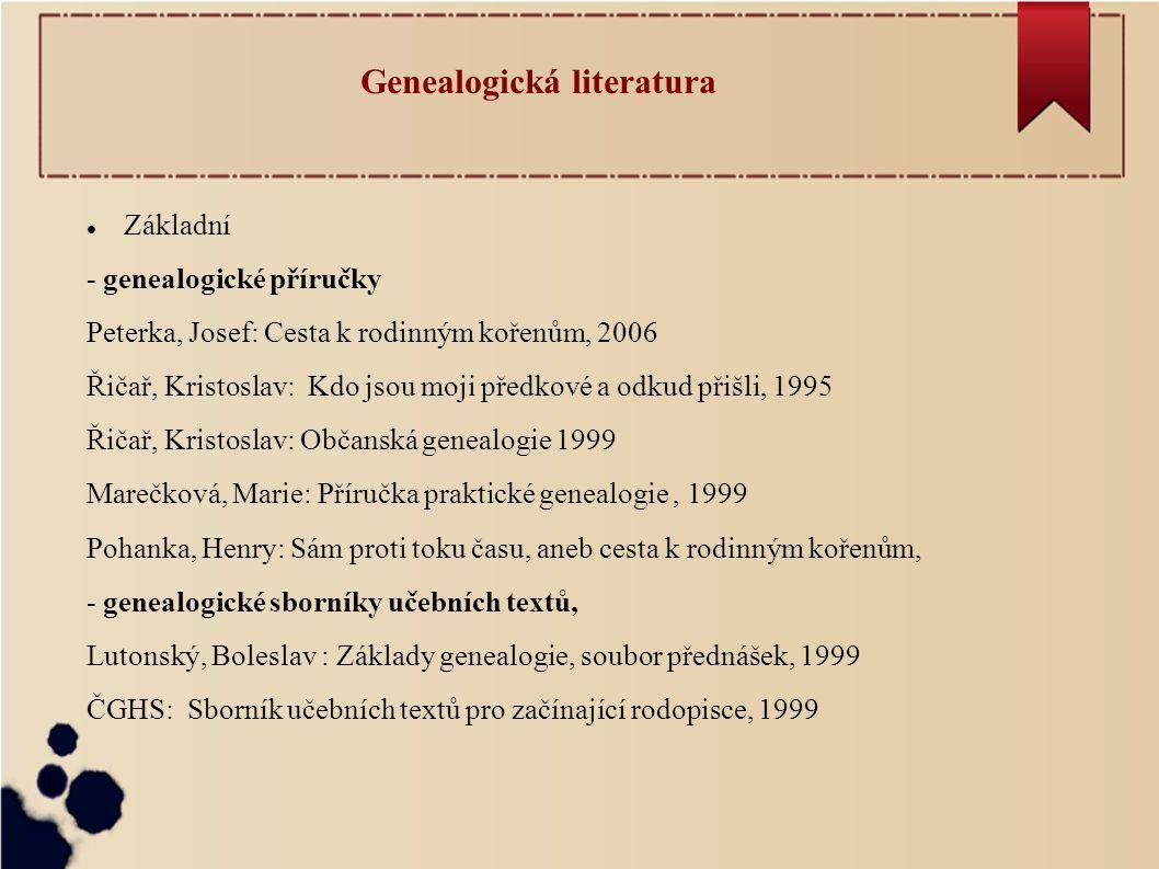 Genealogická literatura