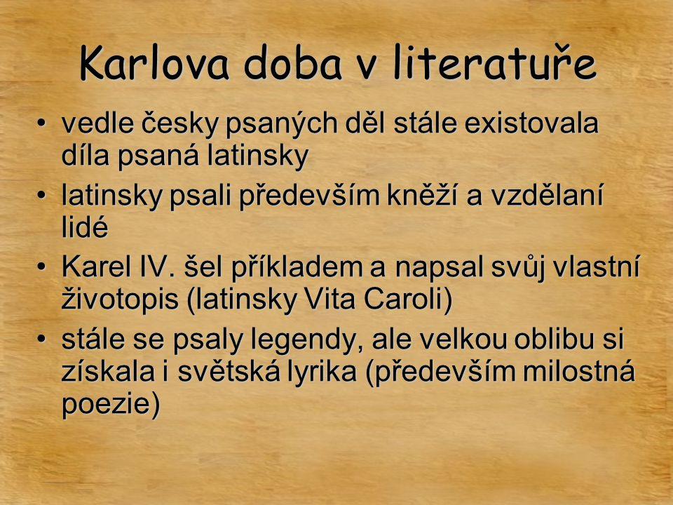 Karlova doba v literatuře