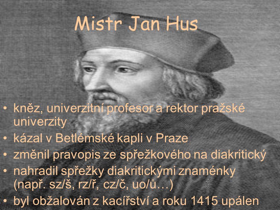 Mistr Jan Hus kněz, univerzitní profesor a rektor pražské univerzity