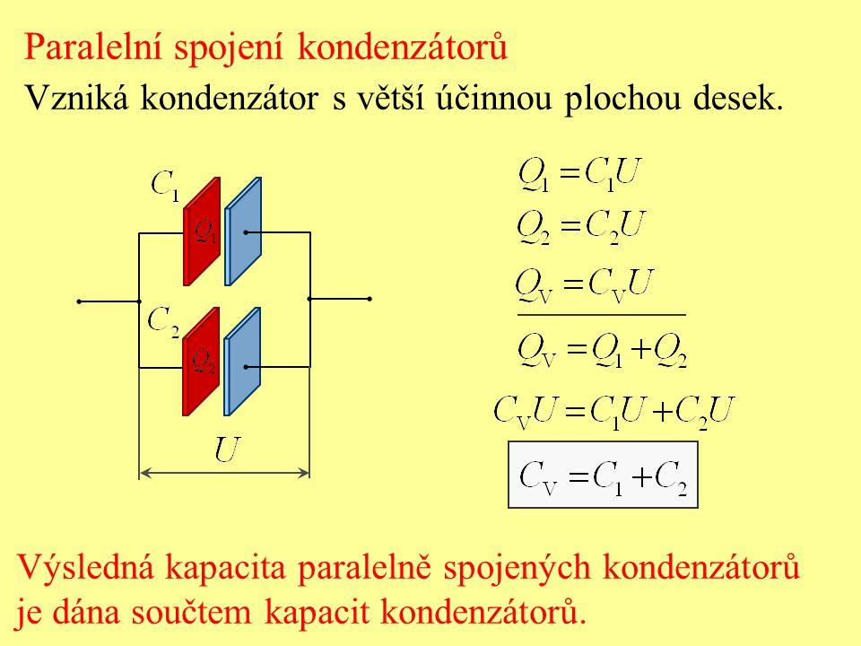 Paralelní spojení kondenzátorů