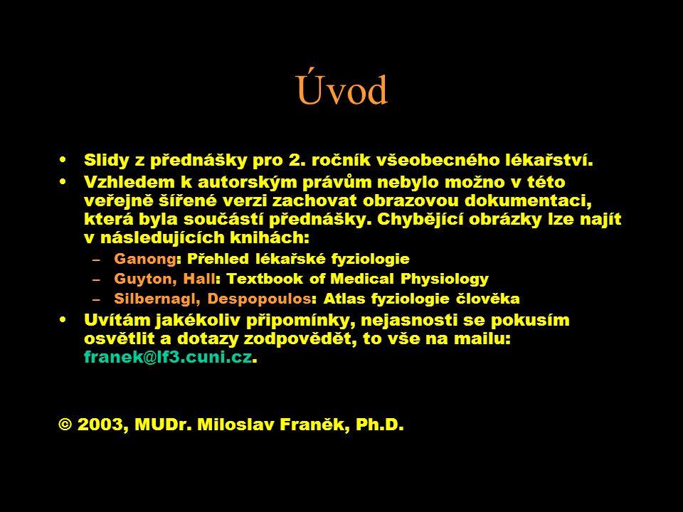 Úvod Slidy z přednášky pro 2. ročník všeobecného lékařství.