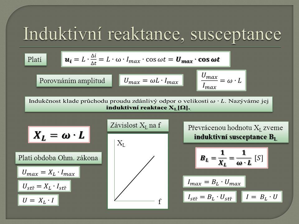 Induktivní reaktance, susceptance