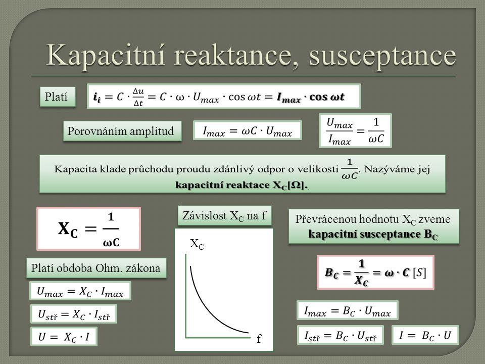 Kapacitní reaktance, susceptance