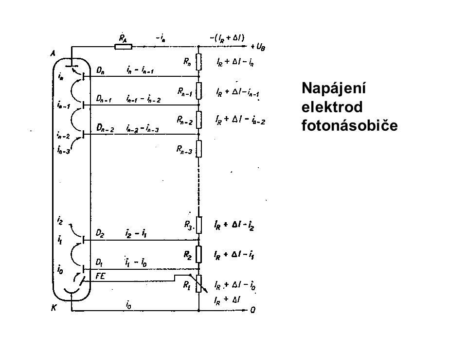 Napájení elektrod fotonásobiče