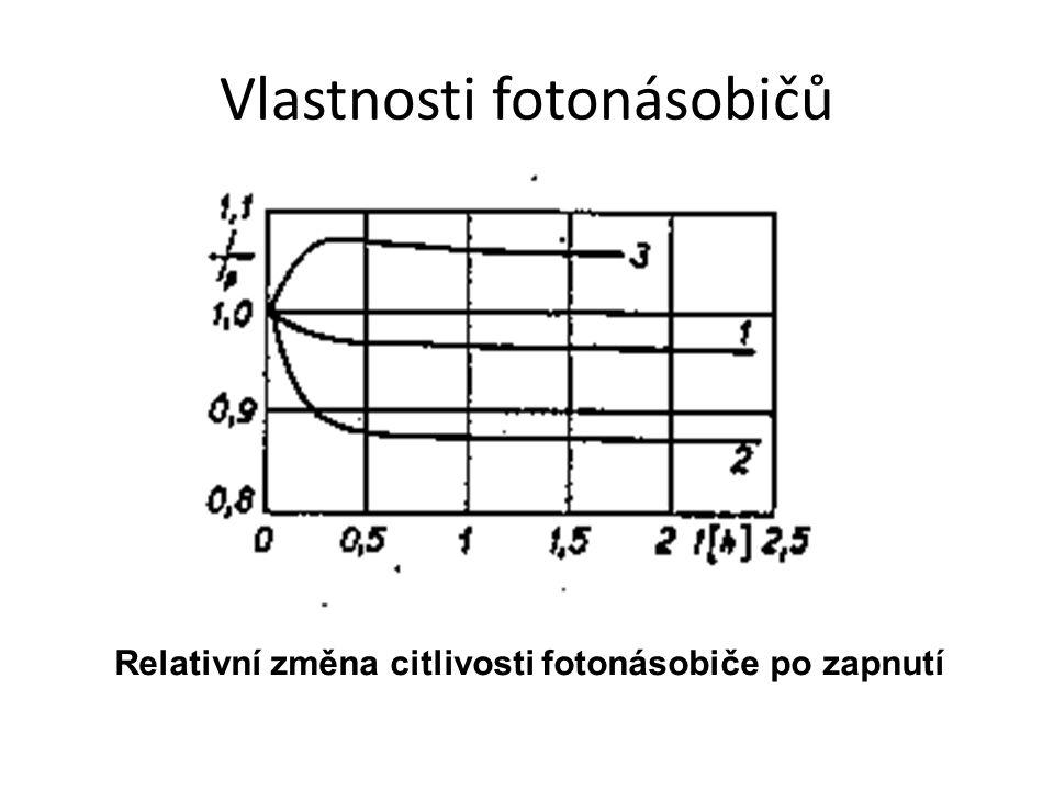 Vlastnosti fotonásobičů