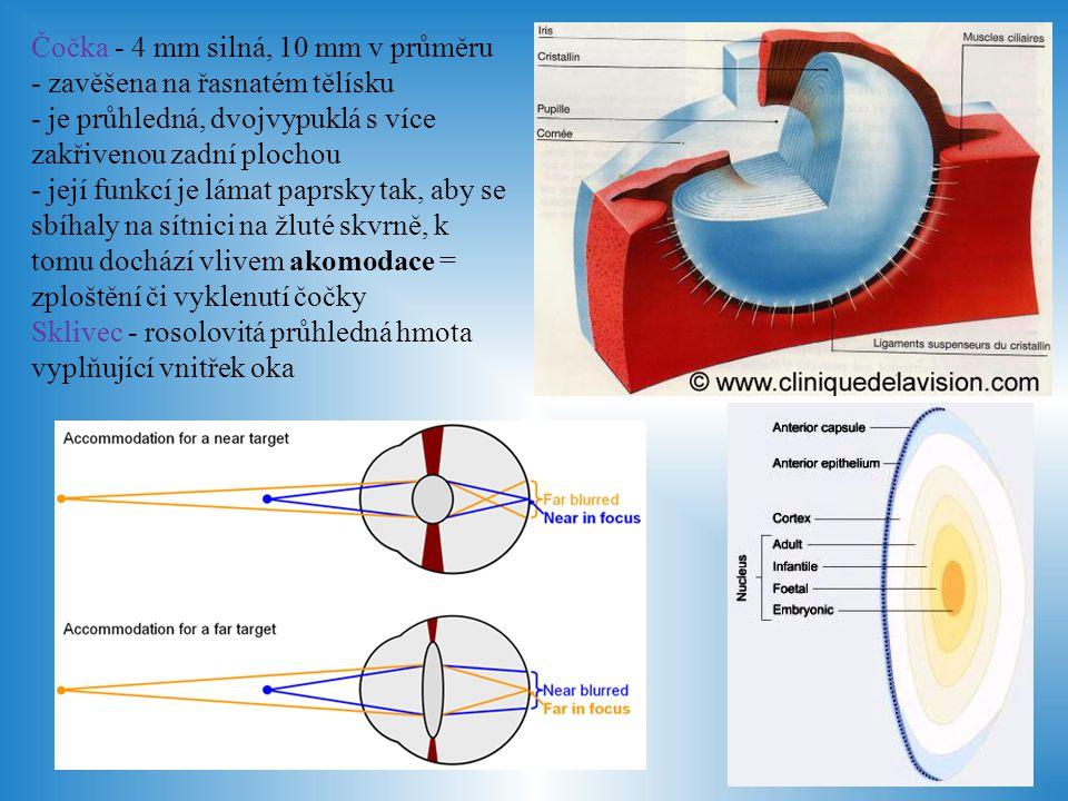 Čočka - 4 mm silná, 10 mm v průměru