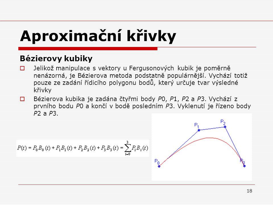 Aproximační křivky Bézierovy kubiky