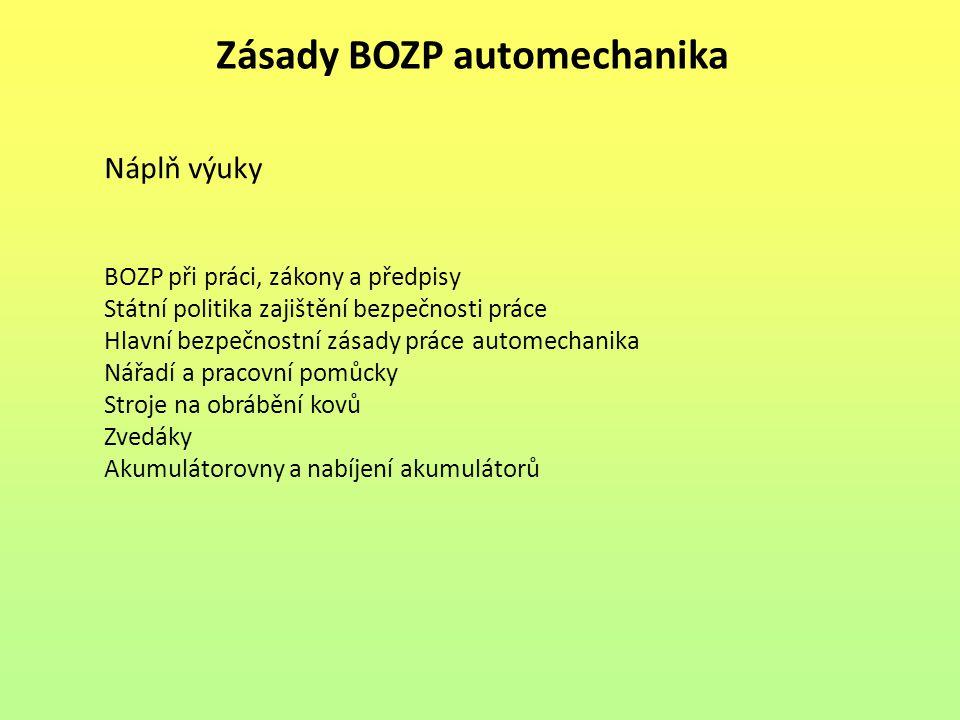 Zásady BOZP automechanika