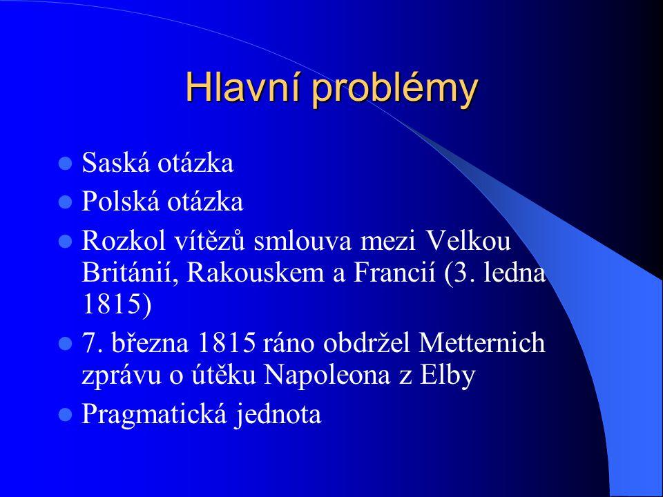 Hlavní problémy Saská otázka Polská otázka