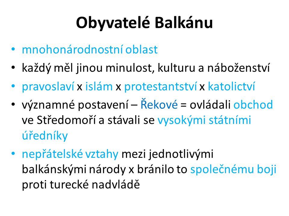 Obyvatelé Balkánu mnohonárodnostní oblast
