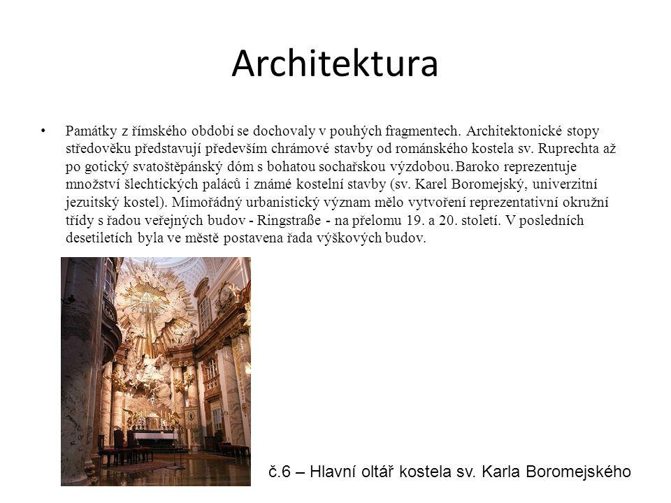 Architektura č.6 – Hlavní oltář kostela sv. Karla Boromejského
