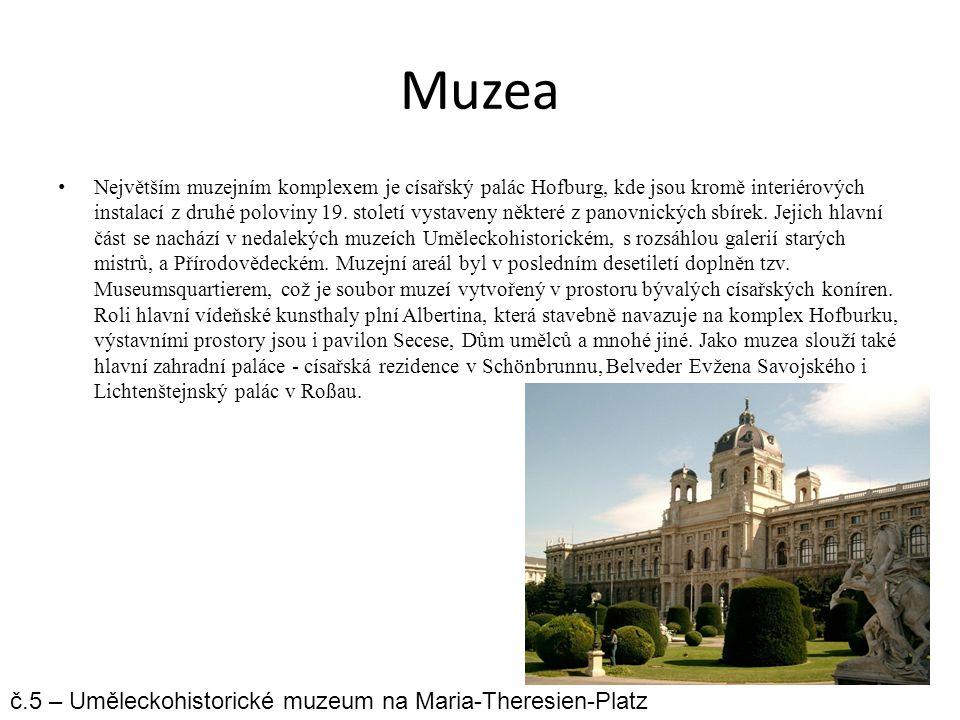 Muzea č.5 – Uměleckohistorické muzeum na Maria-Theresien-Platz