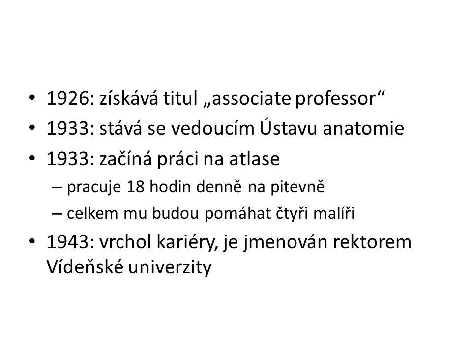 """1926: získává titul """"associate professor"""