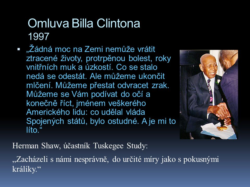 Omluva Billa Clintona 1997