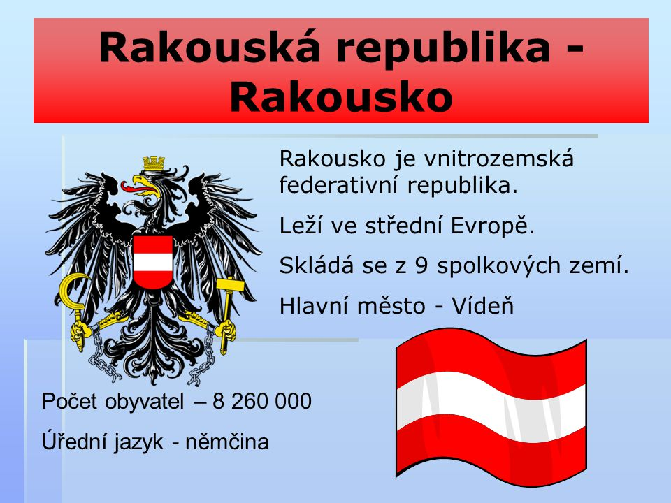 Rakouská republika - Rakousko