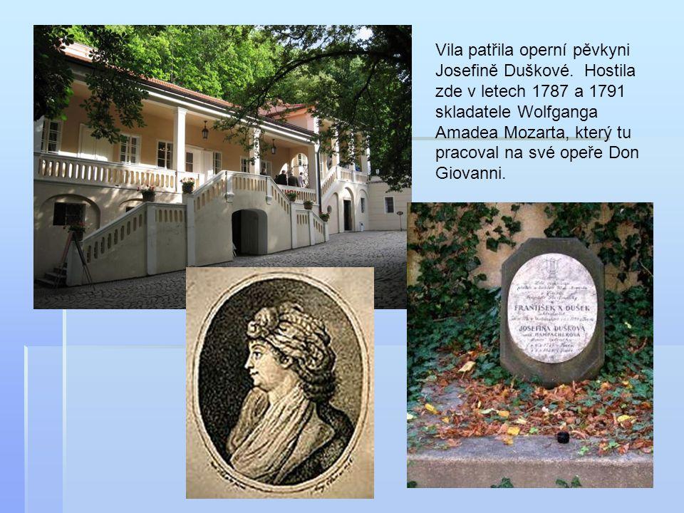 Vila patřila operní pěvkyni Josefině Duškové