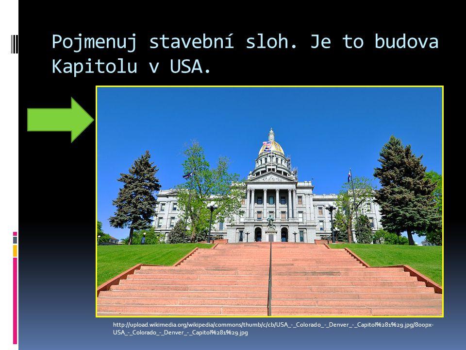 Pojmenuj stavební sloh. Je to budova Kapitolu v USA.