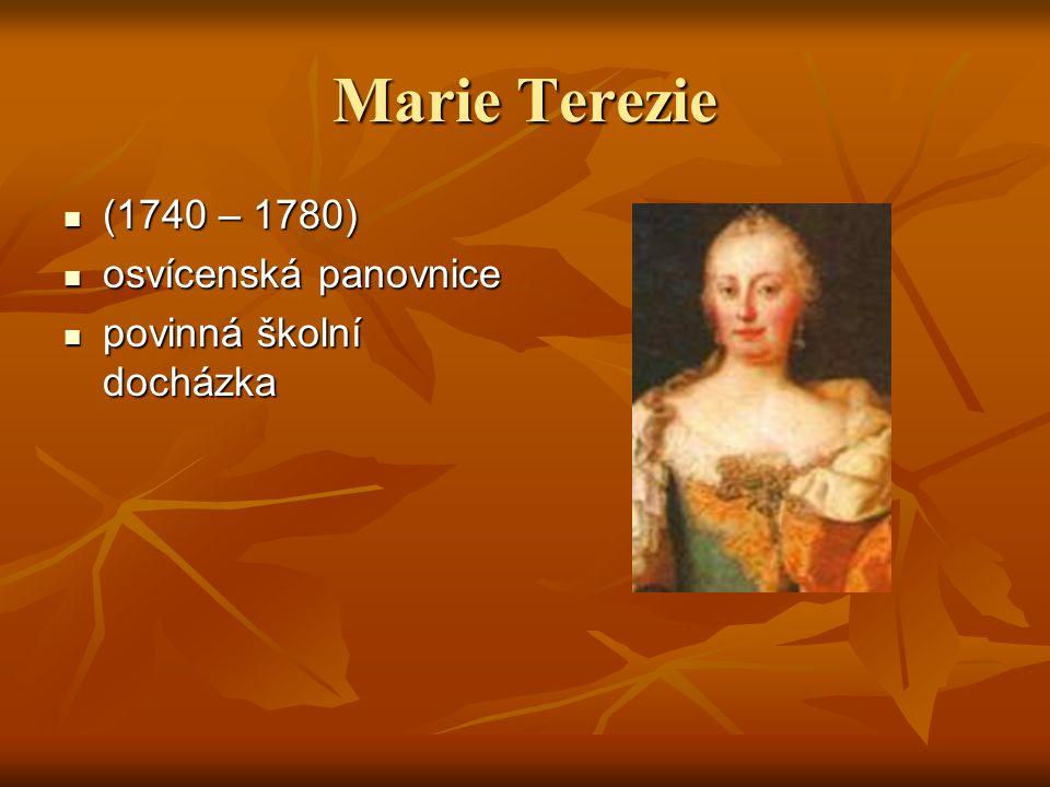 Marie Terezie (1740 – 1780) osvícenská panovnice