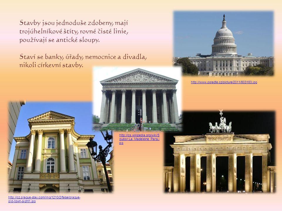 Staví se banky, úřady, nemocnice a divadla, nikoli církevní stavby.