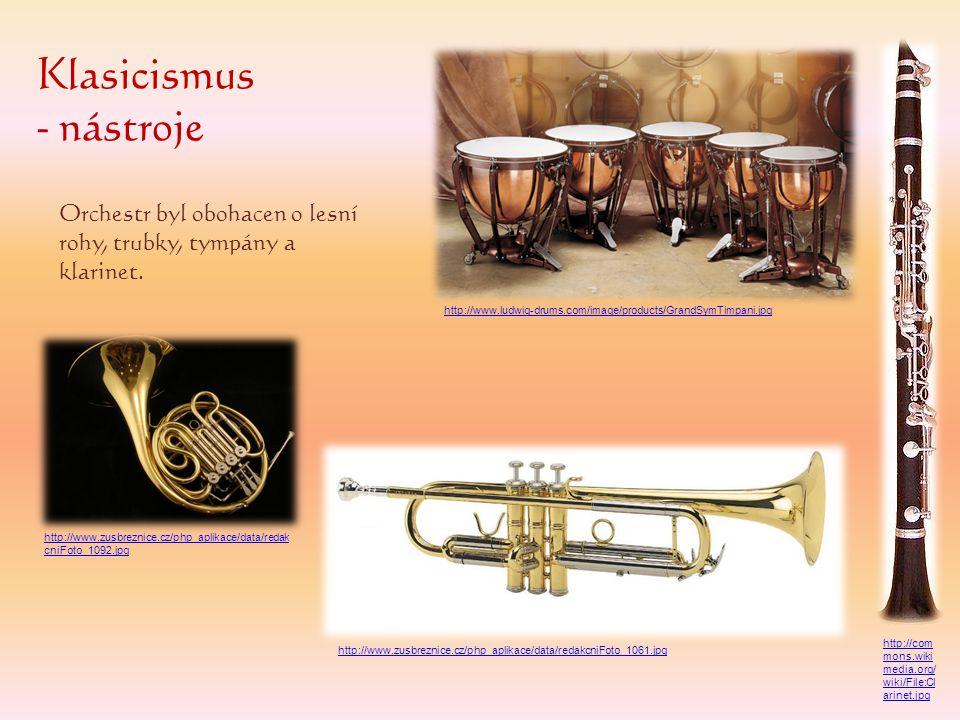 Klasicismus - nástroje