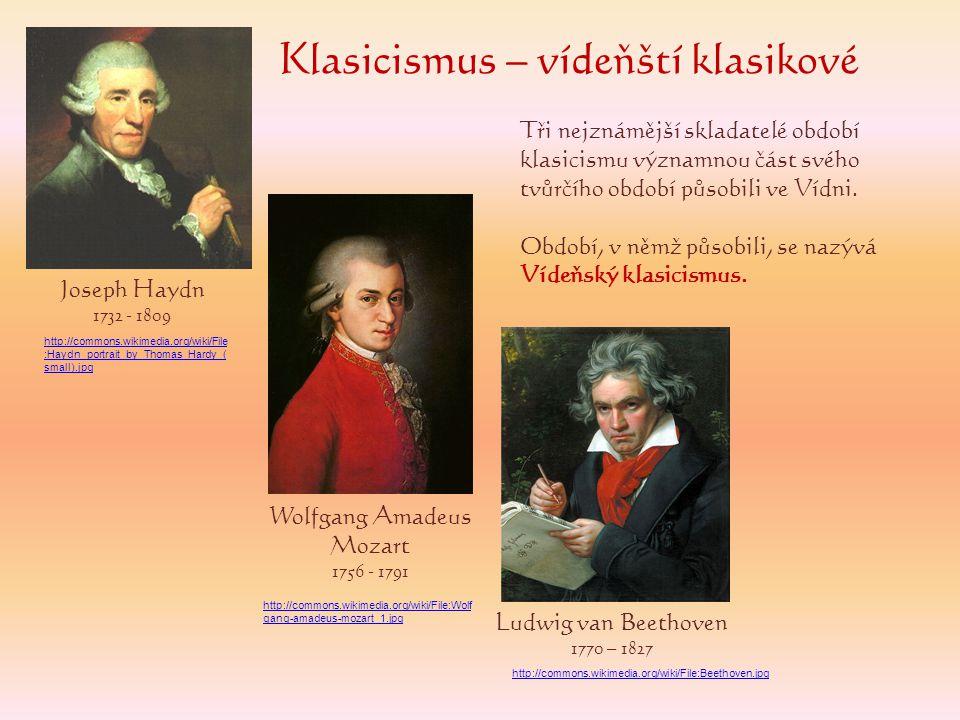 Klasicismus – vídeňští klasikové