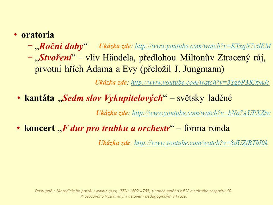 """kantáta """"Sedm slov Vykupitelových – světsky laděné"""