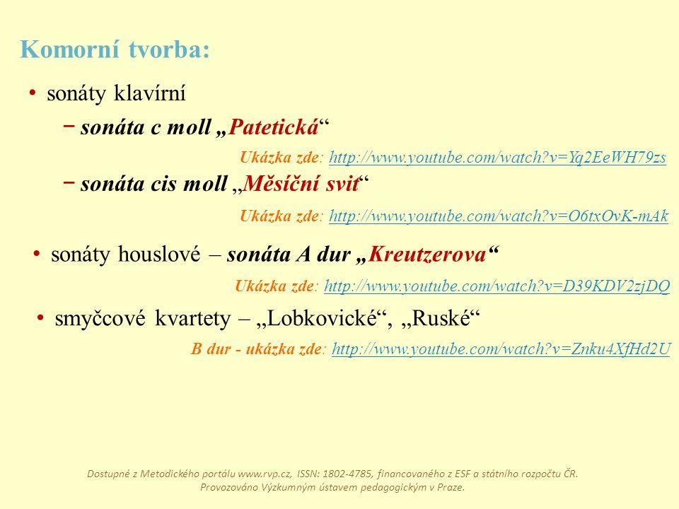 """Komorní tvorba: sonáty klavírní sonáta c moll """"Patetická"""