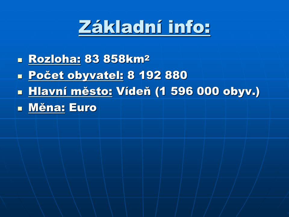 Základní info: Rozloha: 83 858km2 Počet obyvatel: 8 192 880